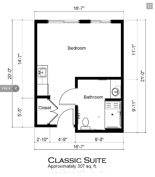 Covenant Glen Classic Suite Floorplan