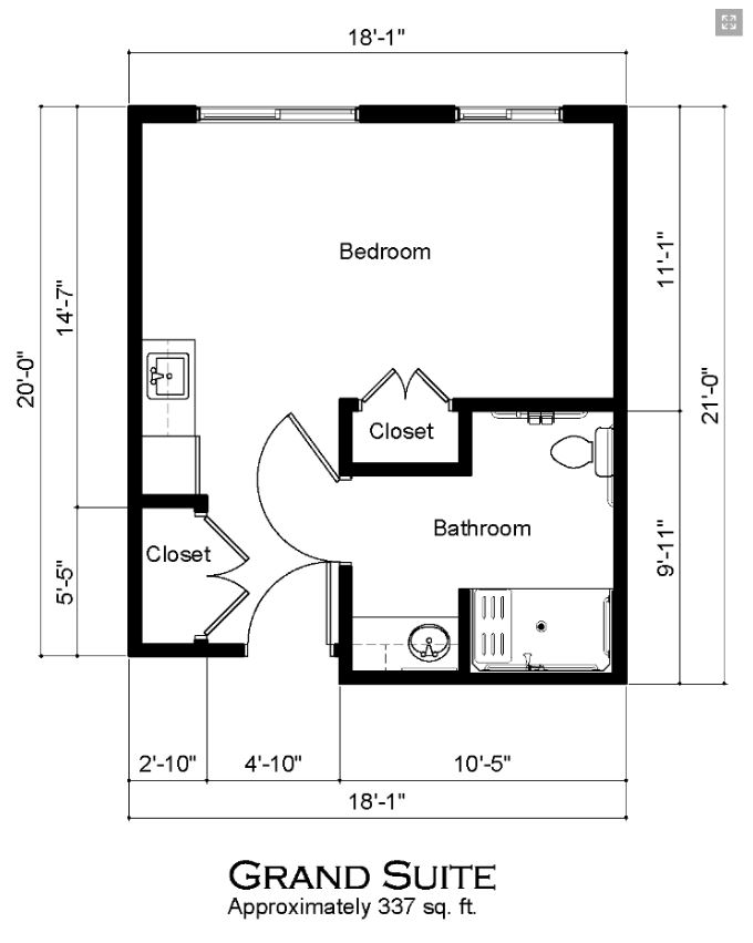 Covenant Glen Grand Suite Floorplan
