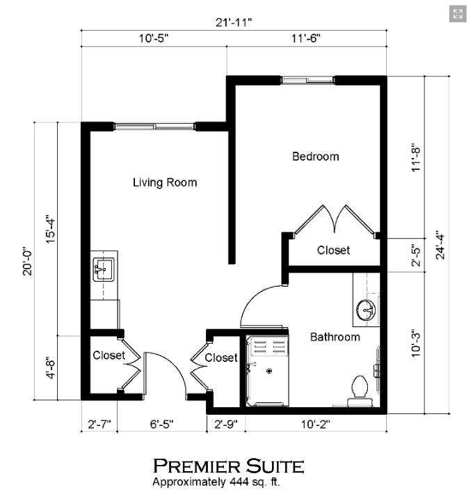 Covenant Glen Premier Suite Floorplan